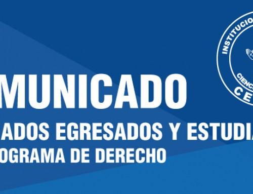 COMUNICADO 001- 2019 CALENDARIO DE EXÁMENES PREPARATORIOS