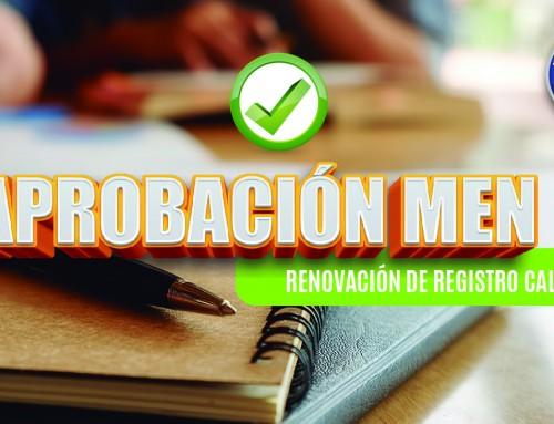 APROBACIÓN MEN RENOVACIÓN DE REGISTRO CALIFICADO