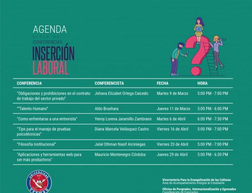 Agenda ciclo de conferencias inserción laboral